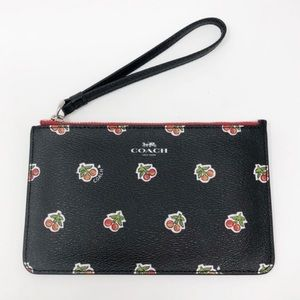Coach | Cherry Print Small Wristlet Black